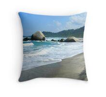 Tayrona Beach Throw Pillow