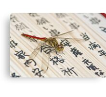 Dragonfly on Japanese Parchment Canvas Print