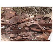 Rusting Away In Monarto Ruins Poster