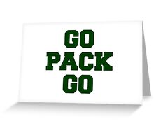Go Pack Go Greeting Card