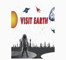 Visit Earth Spaceman  Kids Tee