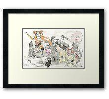 Seven Ninja Swordsmen Of The Mist Framed Print