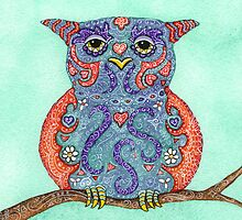Decorated Owl by Julie Hartman