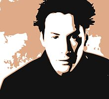 Keanu Reeves in the Matrix, Brown Color Design by Kathryn8