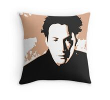 Keanu Reeves in the Matrix, Brown Color Design Throw Pillow