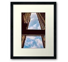 A blue street Framed Print