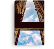 A blue street Canvas Print
