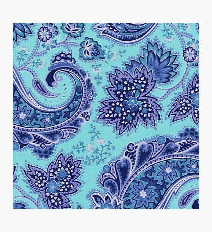 Indian Blue and Purple Pattern Photographic Print