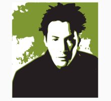 Keanu Reeves in the Matrix, Green Color by Kathryn8
