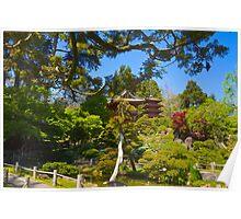 Pagoda in the Garden Poster