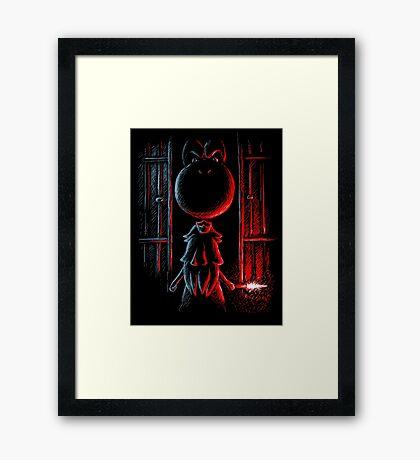 Paddock 9 in the Mushroom Kingdom Framed Print