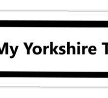 I Love My Yorkshire Terrier Sticker