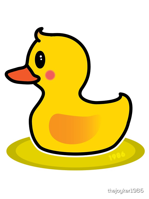 Cute baby duck clipart