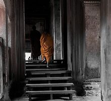 Monks - Angkor Wat 2 by Jane  Earle Photography
