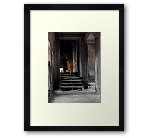 Monks - Angkor Wat 2 Framed Print