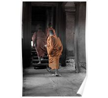 Monks - Angkor Wat Poster