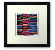 Mexican Blankets Framed Print