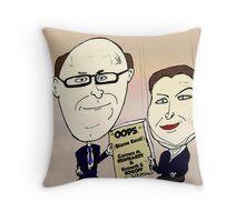 Reinhart Rogoff Economics FAIL Caricature Throw Pillow