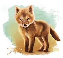 Fox - Digital Painting by Tom Lopez by Tom Lopez