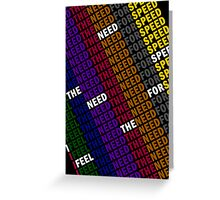 Top Gun - I Feel The Need, The Need For Speed Greeting Card