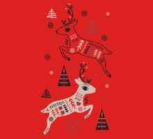 Holiday Folk in Pink Peppermint  One Piece - Short Sleeve