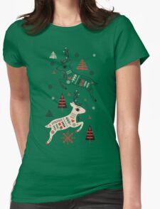 Holiday Folk in Pink Peppermint  T-Shirt