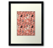 Holiday Folk in Pink Peppermint  Framed Print