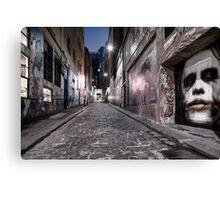 Hosier Lane - The Joker, Melbourne Canvas Print