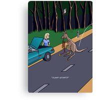 Kangaroo Jump-start Canvas Print