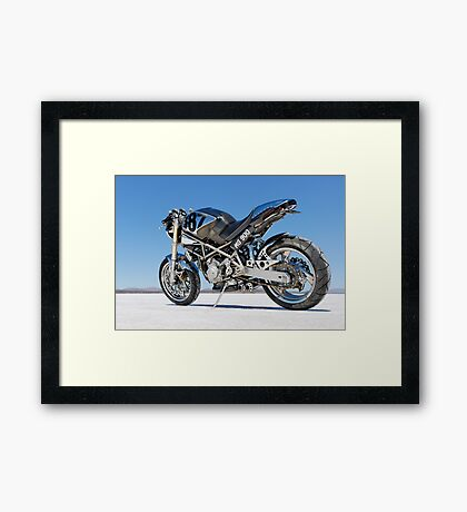 Ducati Monster on the salt 1 Framed Print