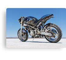 Ducati Monster on the salt 1 Canvas Print