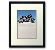 Ducati Monster on the salt 2 Framed Print