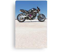 Ducati Monster on the salt 2 Canvas Print