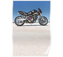 Ducati Monster on the salt 2 Poster