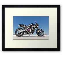 Ducati Monster on the salt 3 Framed Print