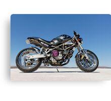 Ducati Monster on the salt 3 Canvas Print