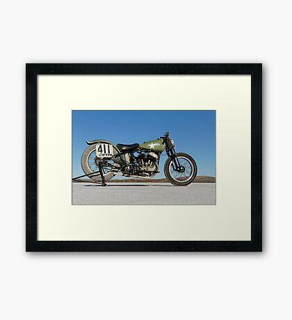 Harley-Davidson WLA on the salt Framed Print