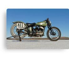 Harley-Davidson WLA on the salt Canvas Print