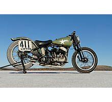 Harley-Davidson WLA on the salt Photographic Print