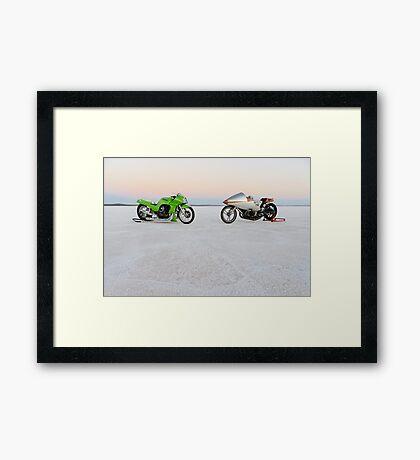 Kawasaki Z1000 and Suzuki GT 750 1 Framed Print