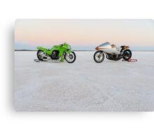 Kawasaki Z1000 and Suzuki GT 750 1 Canvas Print