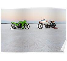 Kawasaki Z1000 and Suzuki GT 750 1 Poster