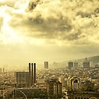 High up over Barcelona by Rick  Senley