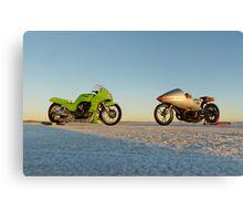 Kawasaki Z1000 and Suzuki GT 750 2 Canvas Print