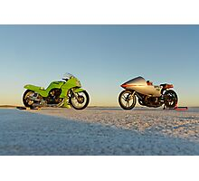 Kawasaki Z1000 and Suzuki GT 750 2 Photographic Print