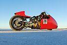 Vincent racing on the salt by Frank Kletschkus