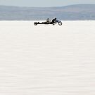 Silverton V8 bike on the salt by Frank Kletschkus