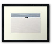 Silverton V8 bike on the salt Framed Print