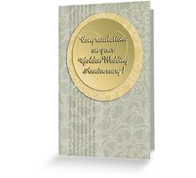Congratulations on your Golden Wedding Anniversary! Greeting Card
