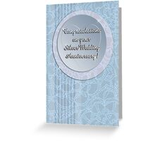 Congratulations on your Silver Wedding Anniversary! Greeting Card